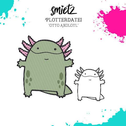 """Plotterdatei """"Otto Axolotl"""" inklusive Minilizenz bei Makerist"""