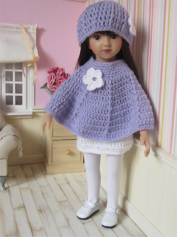 Snowdrop : crochet outfit for 32-34 cm doll