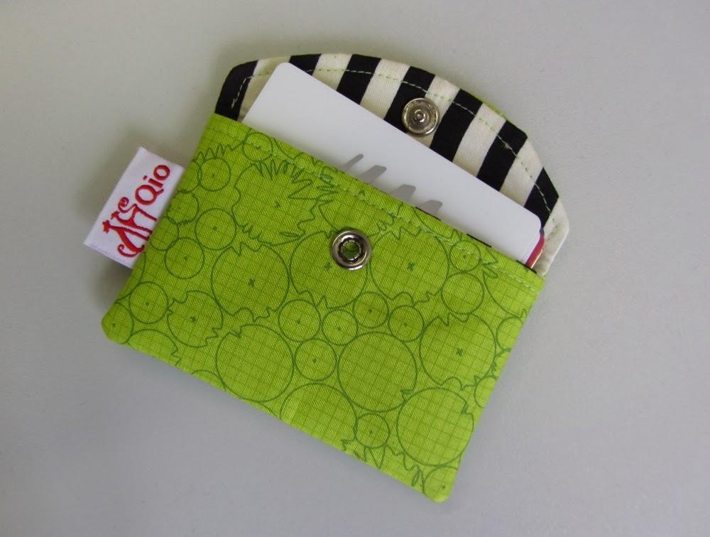 Snappy Business Card Pouch - Card Holder sewing bag credit cards