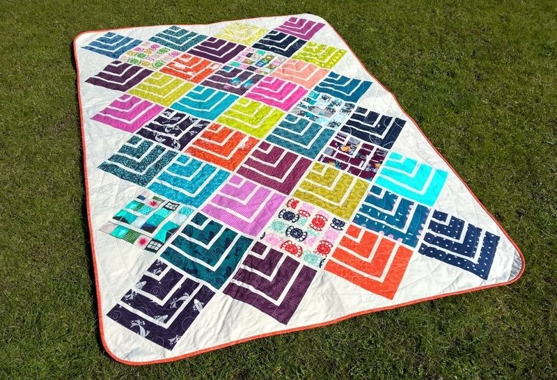 Jelly On Point - modern quilt pattern - quilts patchwork sewing Jelly Roll friendly at Makerist - Image 1