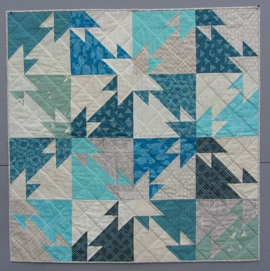 Triangle Challenge - modern quilt pattern - quilts patchwork sewing Fat Quater friendly at Makerist - Image 1