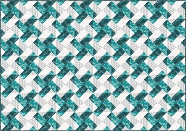 Whirly modern quilt pattern - quilts patchwork pillow baby quilt twin king lap size at Makerist - Image 1
