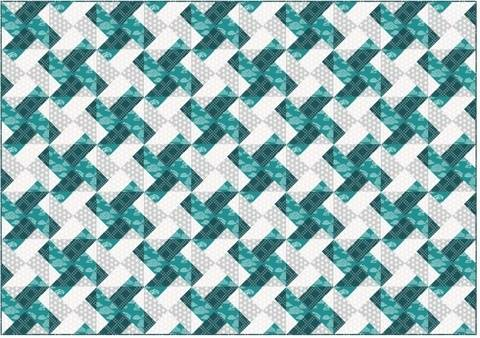 Whirly modern quilt pattern - quilts patchwork pillow baby quilt twin king lap size at Makerist