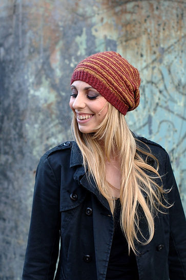 Striato hat (beanie & slouchy) - knitting pattern at Makerist - Image 1