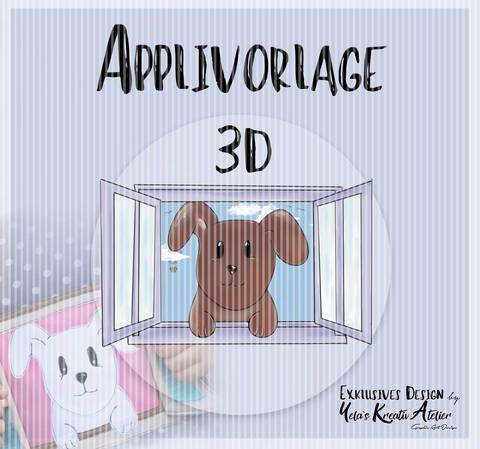 "Applikationsvorlage inkl. Anleitung Yela`s Kreativ Atelier "" Herbstmilo 3D """