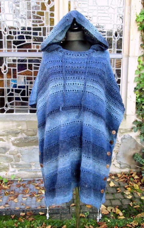 Versa Poncho, vielseitig zu tragen, auch mit Kapuze bei Makerist