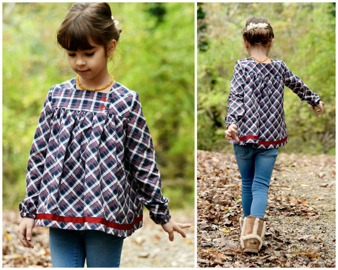 GIRLS DRESS, TUNIC, SEWING PATTERN, LONG SLEEVES at Makerist - Image 1