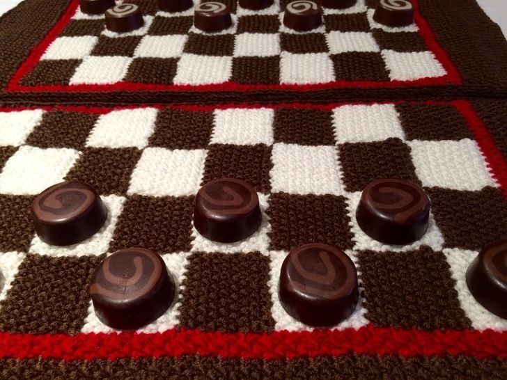 Chess or Draughts Placemats Knitting Pattern at Makerist - Image 1