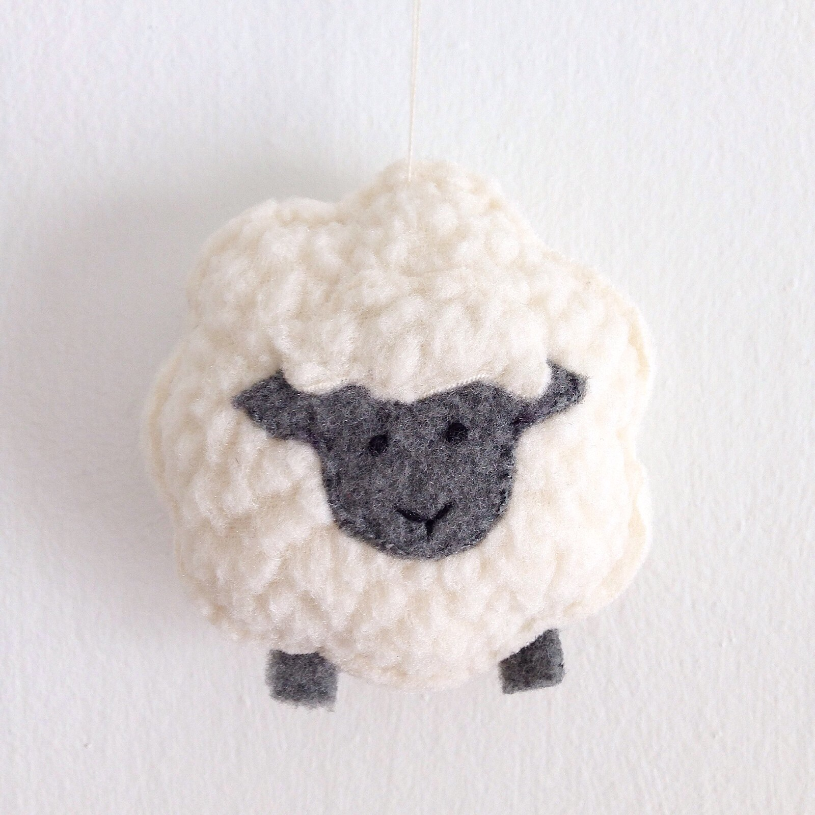 Little Sheep Sewing Pattern - Christmas Ornament - Plush Toy