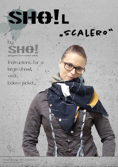 SHO!L - Instructions for a large shawl, vest, bolero jacket....  at Makerist - Image 1
