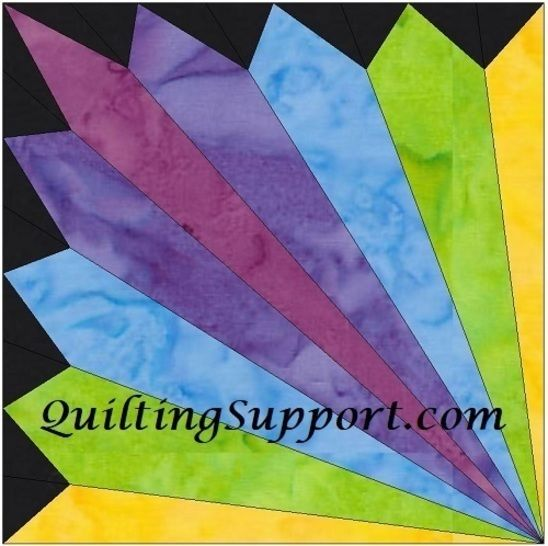 15 Inch HC Rainbow Fan Template Block Quilting Pattern at Makerist - Image 1