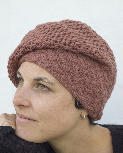 Strudel slouchy hat - knitting pattern