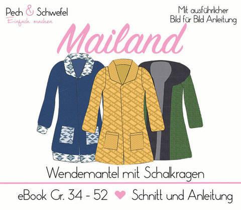 "Ebook Wendemantel ""Mailand"" Gr. 34 - 52 (A4/A0)"