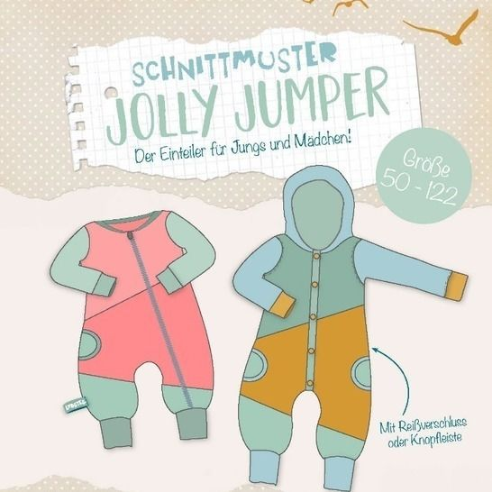 Lybstes. Jolly Jumper Einteiler - FREEBOOK Gr.50-62 bei Makerist - Bild 1