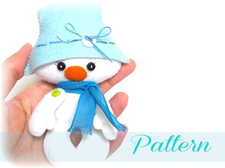 Snowman-Christmas Ornament pattern-Soft toy pattern at Makerist - Image 1