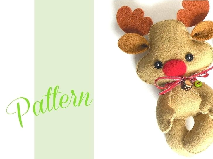 Reindeer Christmas ornament pattern-Rudolph ornament at Makerist - Image 1