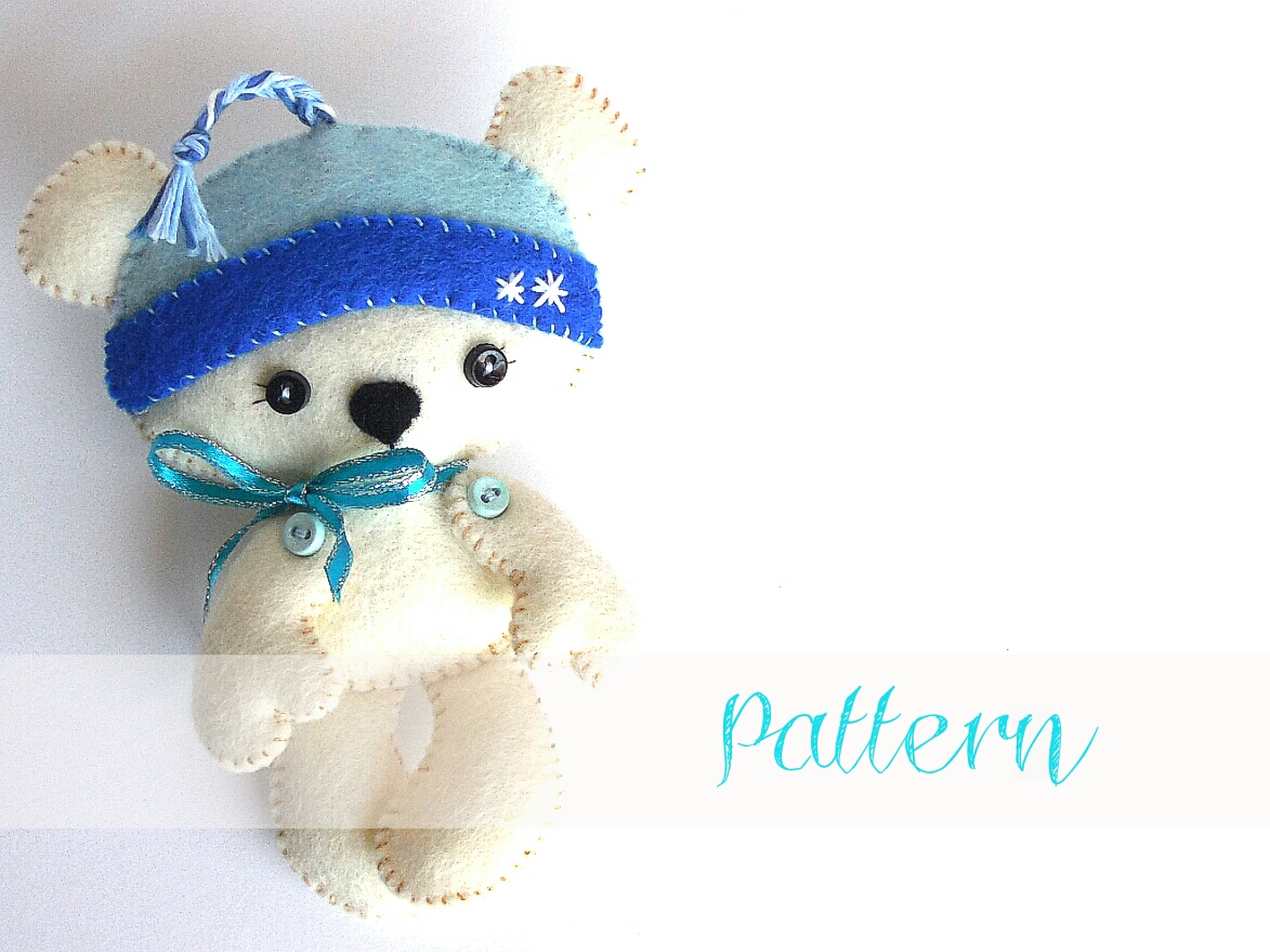 Polar Bear-Christmas-Ornament pattern-Polar bear toy