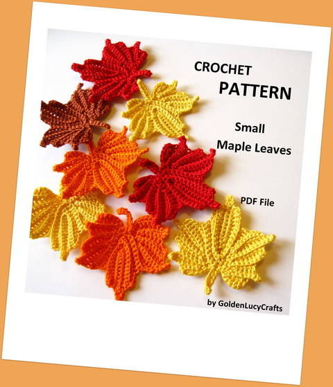 Small Maple Leaf Crochet Pattern