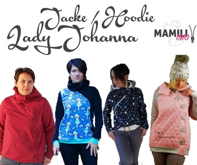 E-Book Lady Johanna (Sweat)Jacke / Hoodie Gr.32-50 bei Makerist - Bild 1
