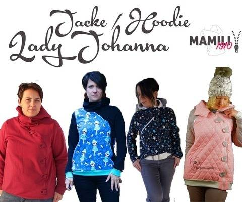 E-Book Lady Johanna (Sweat)Jacke / Hoodie Gr.32-50 bei Makerist