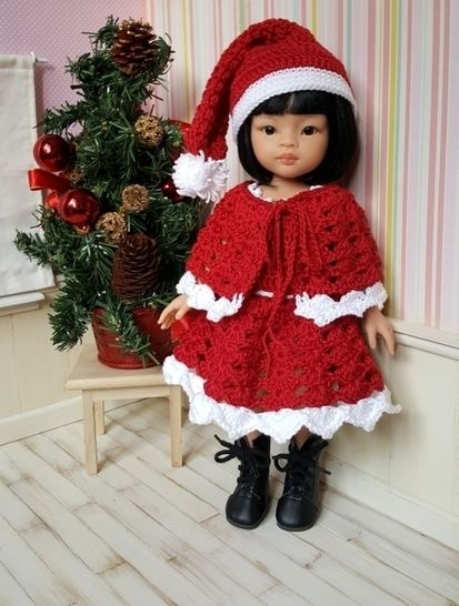 Merry Christmas : crochet outfit for 32-33 cm doll at Makerist - Image 1