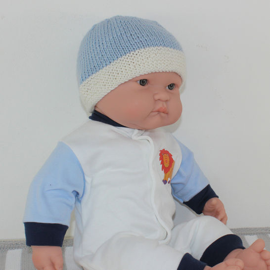 Baby 2 Colour Beanie Hat at Makerist - Image 1