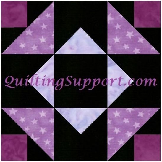 Independence Star 10 Inch Quilting Paper Piece Foundation Block Pattern at Makerist - Image 1