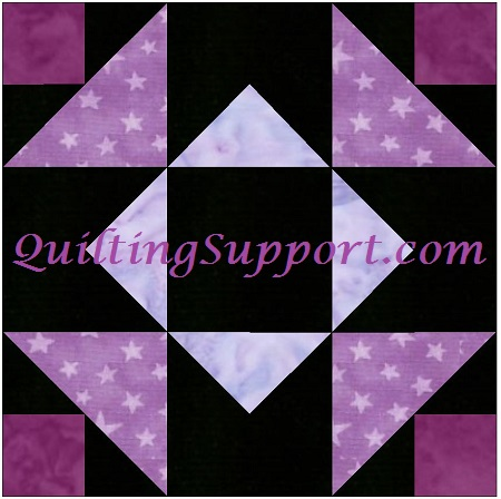Independence Star 10 Inch Quilting Paper Piece Foundation Block Pattern