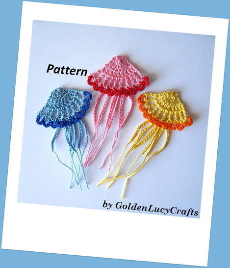 Crochet Pattern Jellyfish Applique at Makerist - Image 1