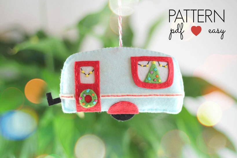 Felt Caravan Trailer Christmas Ornament at Makerist - Image 1
