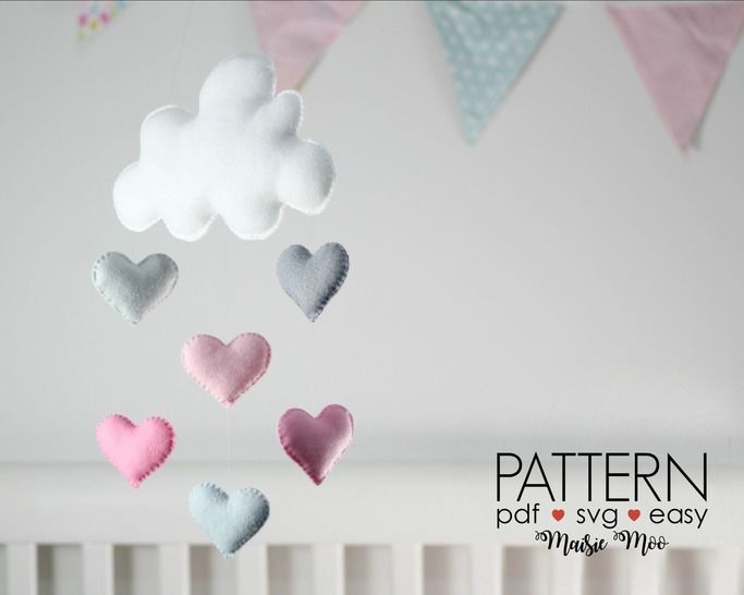 Cloud Baby Mobile Pattern - Baby Mobile Pattern - DIY Mobile Pattern at Makerist - Image 1