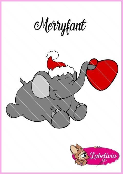 Digi Stamp Merryfant