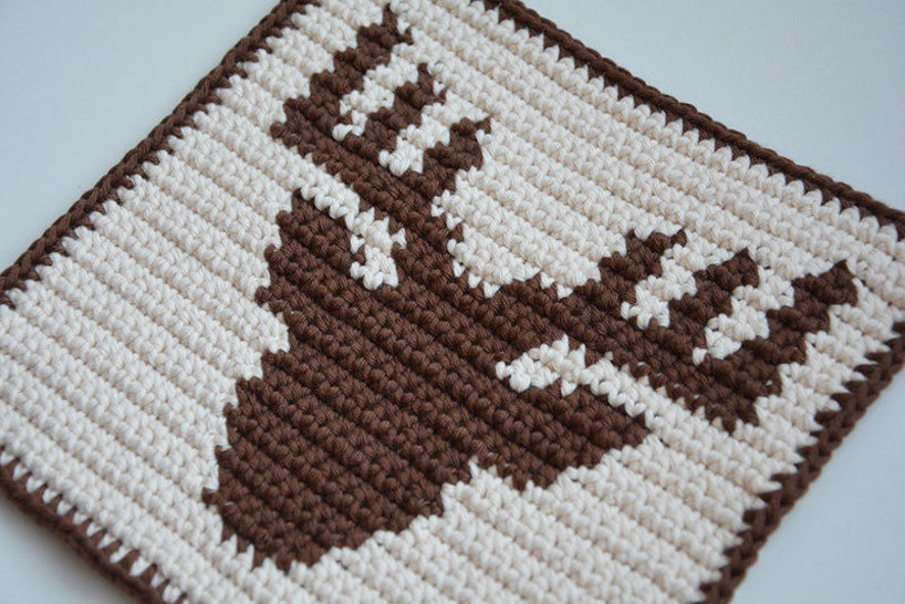 Deer Potholder Pattern (with Crochet Basics) at Makerist - Image 1