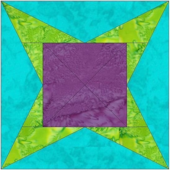 Y Star 10 Inch Paper Piecing Foundation Quilting Block Pattern at Makerist - Image 1