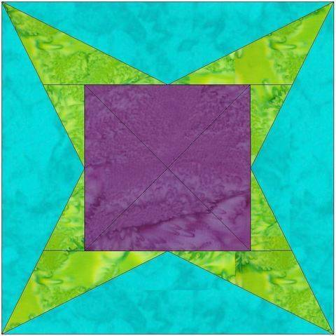 Y Star 10 Inch Paper Piecing Foundation Quilting Block Pattern at Makerist