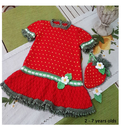 Strawberry Dress and Purse for 2 to 7 years bei Makerist - Bild 1