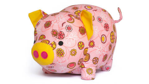 Cute Pig sewing toy pattern at Makerist
