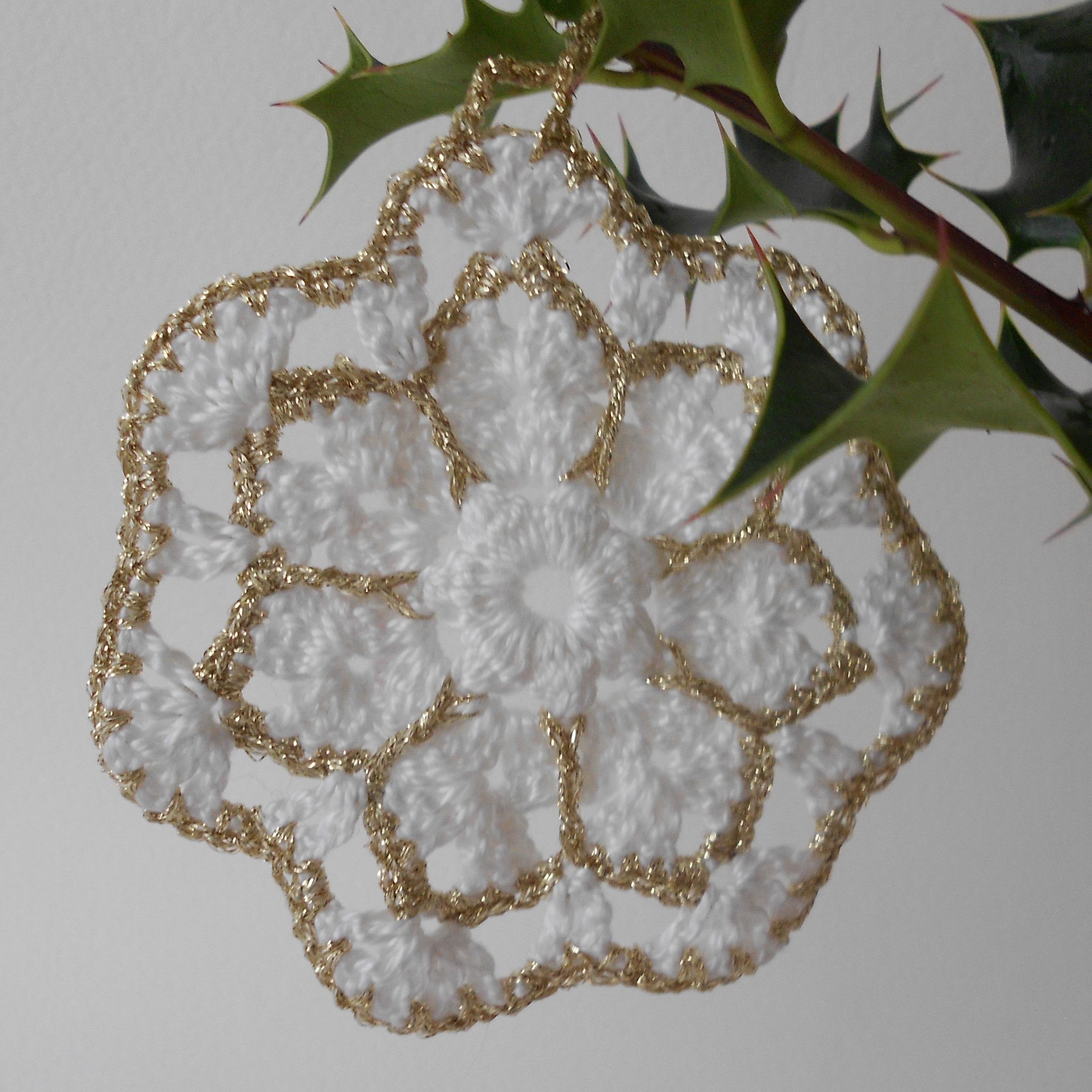 Étoile du Nord, décoration de Noël tutoriel au crochet, granny flocon façon étoile