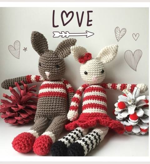 Tuto crochet Mr et Mme Lapin chez Makerist