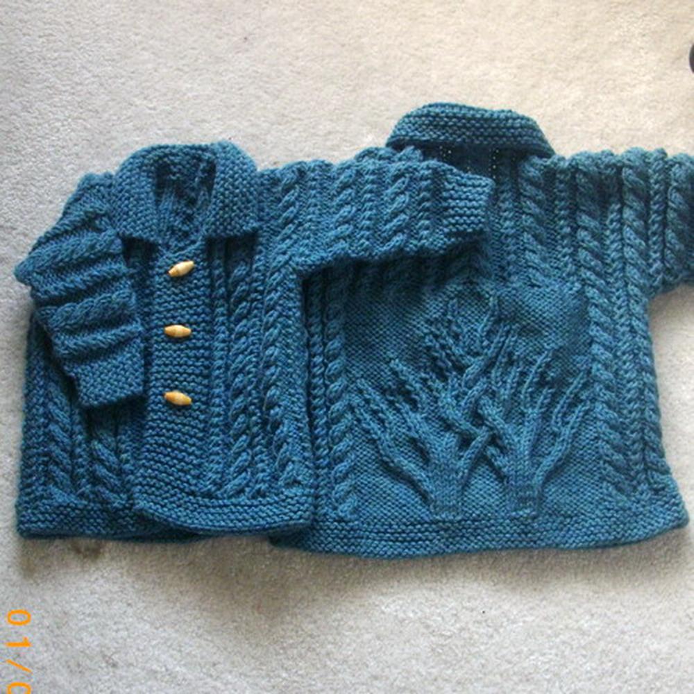 Macdara baby and toddler cardigan coat - knitting pattern