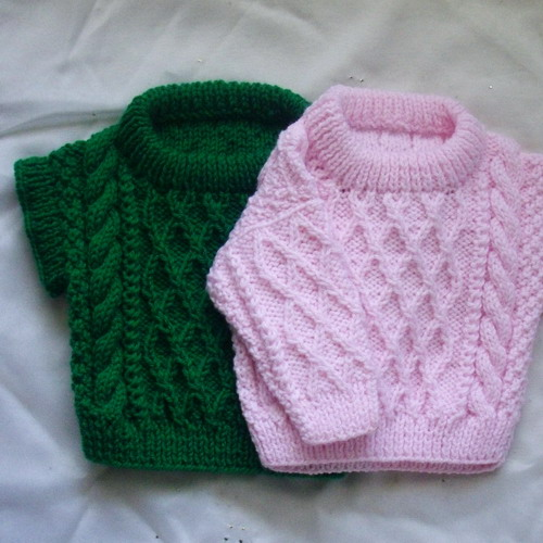 Baby and toddler sweater and pullover - knitting pattern