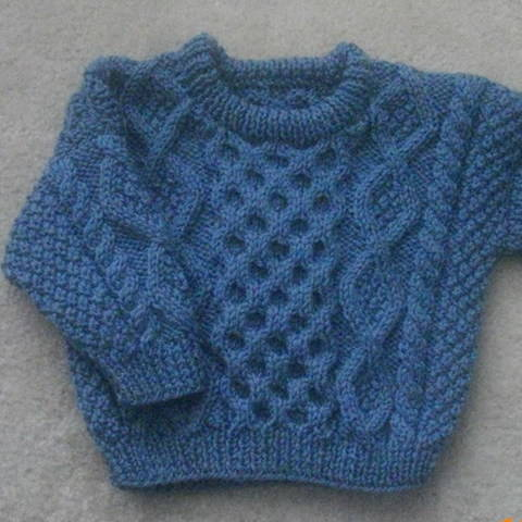Bruadair infant aran sweater - knitting pattern