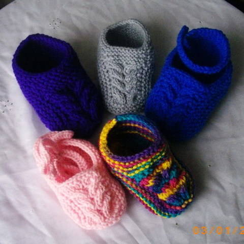 Baby and toddler slippers - knitting pattern