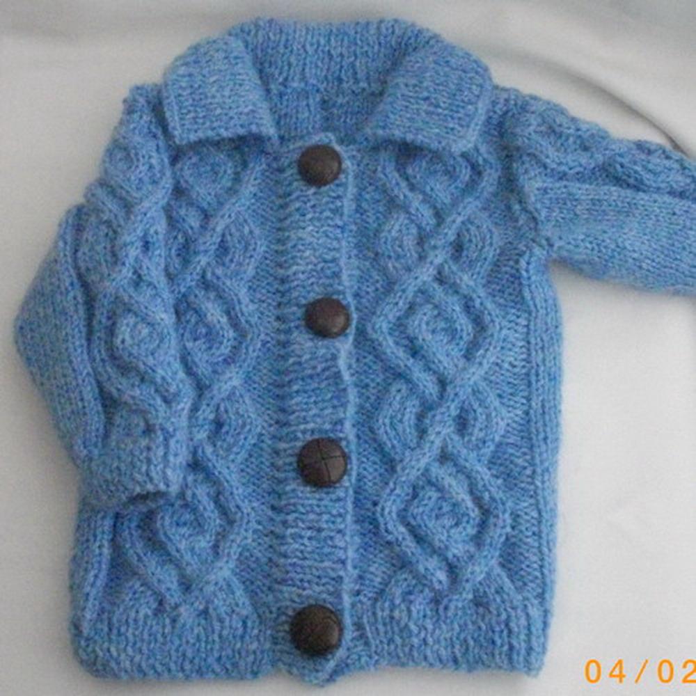 Baby or toddler coat jacket - knitting pattern