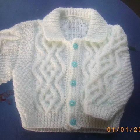 Fiachra baby and toddler cardigan - knitting pattern