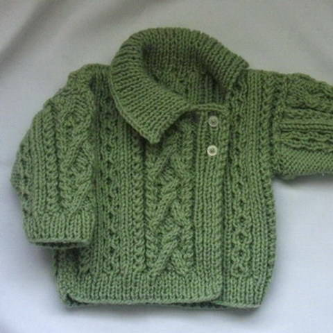 Deirdre asymmetrical girls cardigan - knitting pattern at Makerist