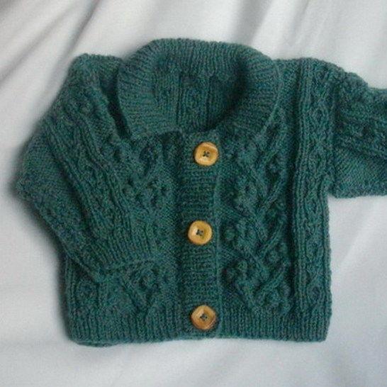 Rowan toddler aran cardigan jacket - knitting pattern at Makerist - Image 1