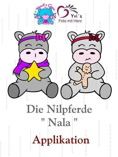 Applikationsvorlage Nilpferdmädchen Nala