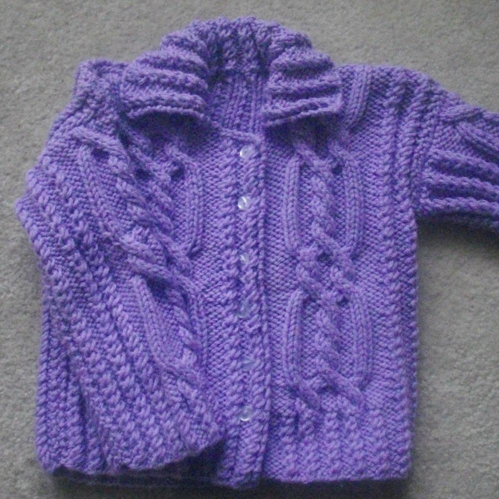 Maeve girls cable cardigan - knitting pattern