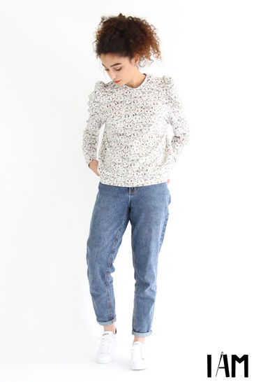 2 FOR 1 - Lion and Zèbre - puffy sleeves sweatshirt  at Makerist - Image 1